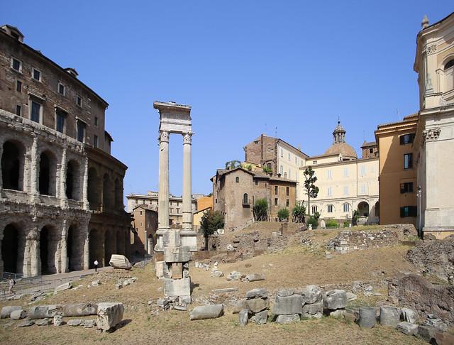Teatro di Marcello started by Julius Caesar in 27 BC