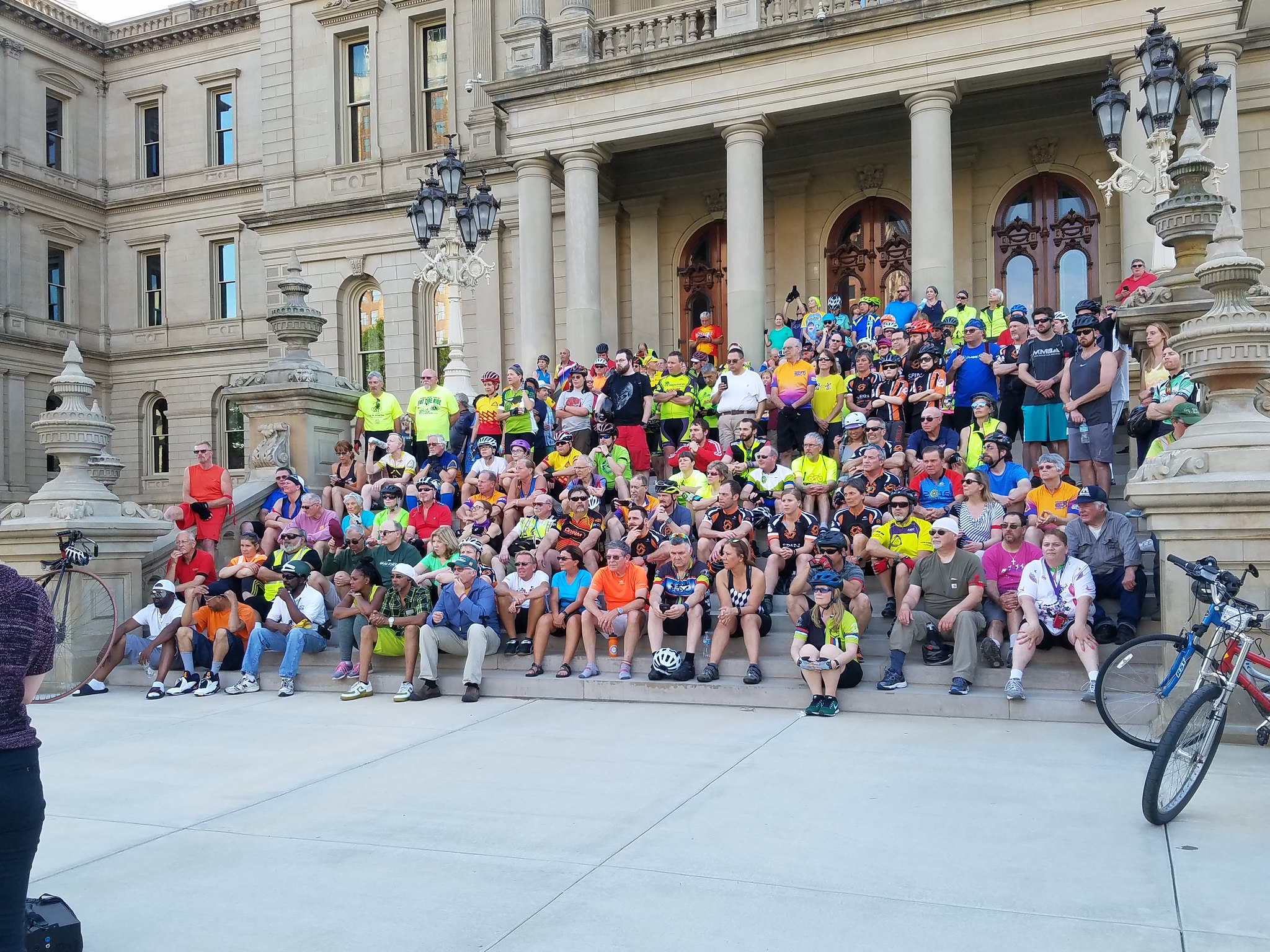 Lansing Participates in the Ride of Silence