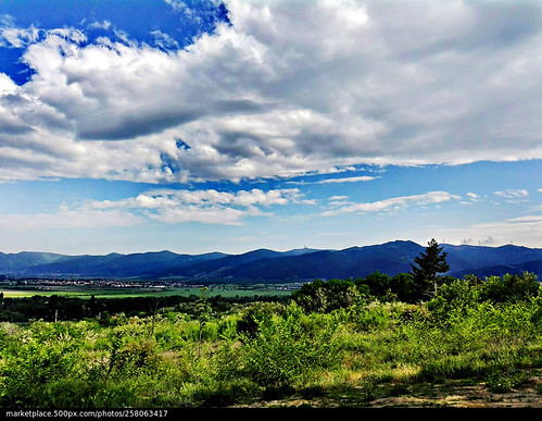 landscape scenery scene picture prospect mountain clouds sky greenery trees nature travel tour tourism photooftheday beauty beautifulsunsetplace beautiful kazanlak bulgaria europe thevalleyoftheroses city park photo spring amateur photographer color nice
