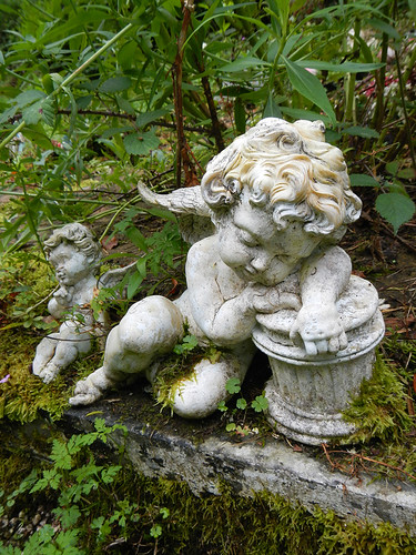 Sleeping Cherub at Muckross Abbey in Killarney National Park, Ireland