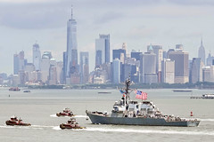 USS Mitscher transits Upper Bay during Fleet Week New York.