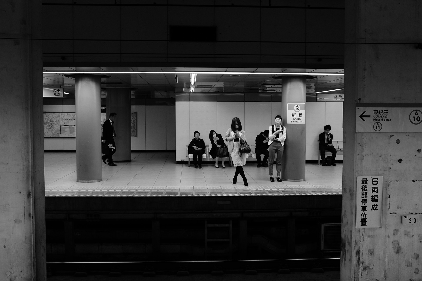 The shinbashi station taken by FUJIFILM X100s