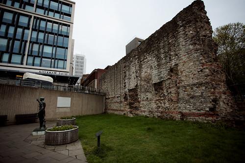 Mura romane a Tower Hill