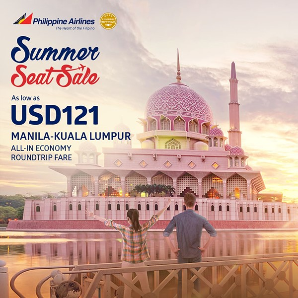 Philippine Airlines Summer Seat Sale Manila to Kuala Lumpur