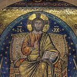 'Christ in Majesty' in mandorla - mosaic, Filippo Rusuti, c1300 - narthex, Santa Maria Maggiore, Rome - https://www.flickr.com/people/11200205@N02/
