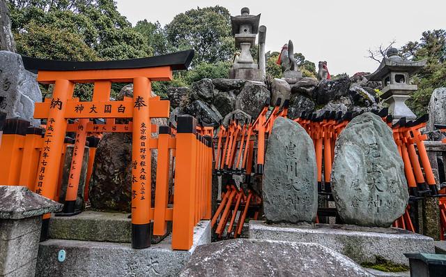 Fushimi Inari mini gates and rocks