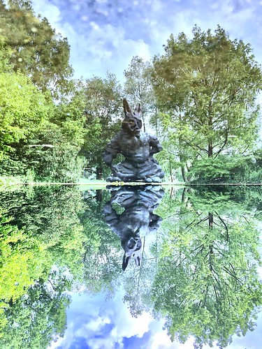 Alice's Adventures in Wonderland..The Pool of Tears...rabbit exude..Alice honors the animals by endowing them with consciousness equal to that of humans