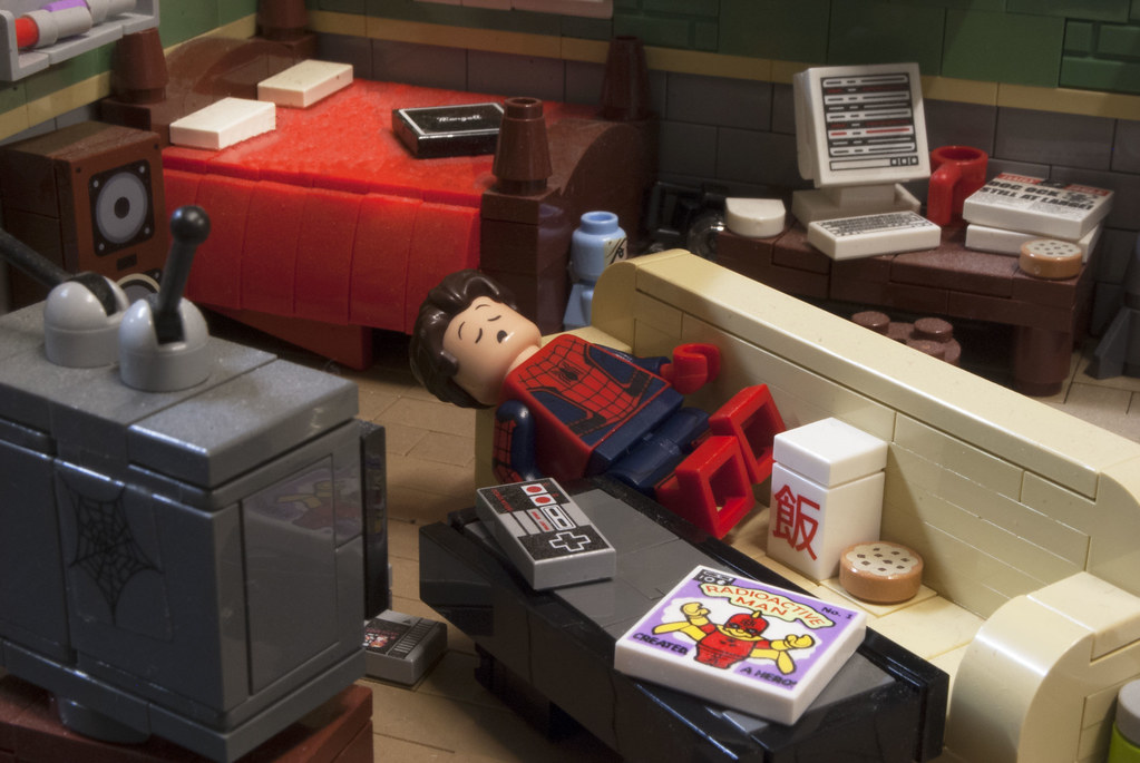 Spidey Snooze after a Hard Days Work