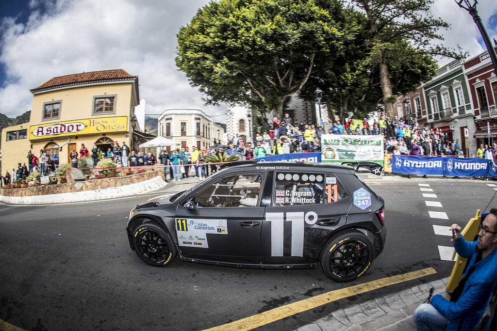 11 INGRAM Chris (gbr), WHITTOCK Ross (gbr) , TOKSPORT WRT, SKODA FABIA R5, action during the 2018 European Rally Championship ERC Rally Islas Canarias, El Corte Inglés,  from May 3 to 5, at Las Palmas, Spain - Photo Gregory Lenormand / DPPI