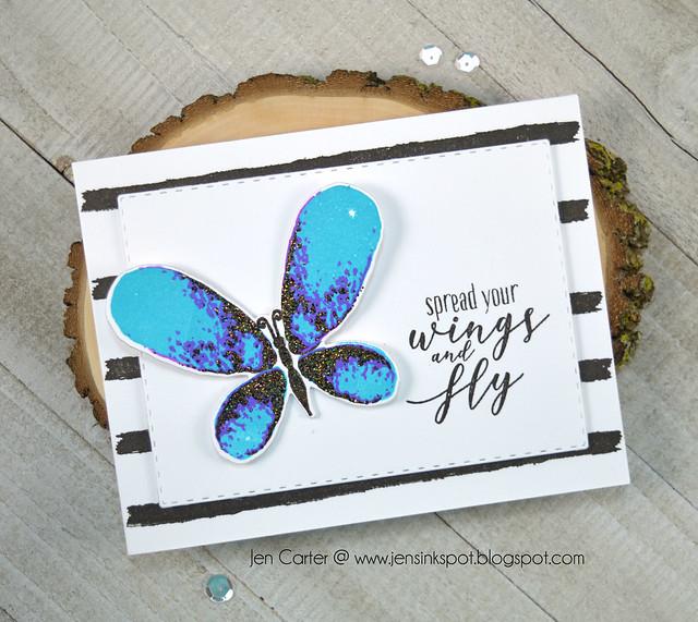 Jen Carter Spread Wings Faithful Flutterings Blue