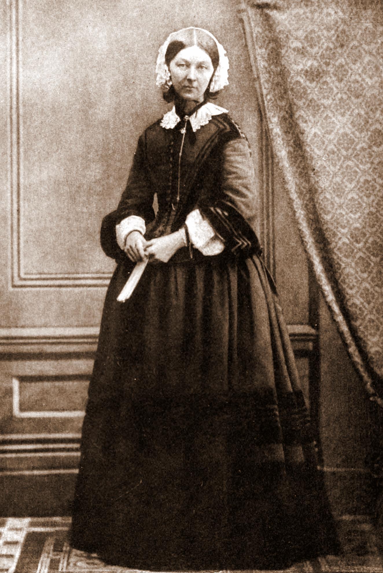Florence Nightingale by Goodman, circa 1858. Published in The Life of Florence Nightingale by Edward Cook, 1913.
