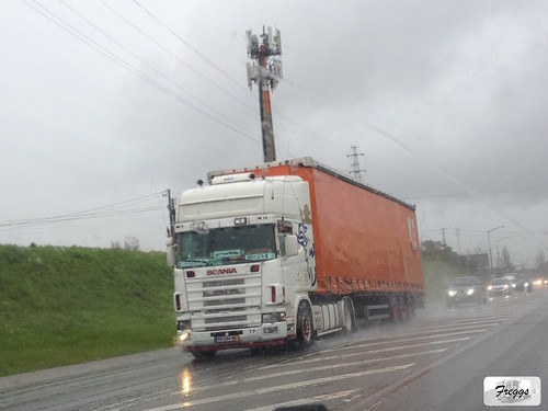 Scania 4-Series Topline with (old Figueiredo) Curtain Sider - Aveiro