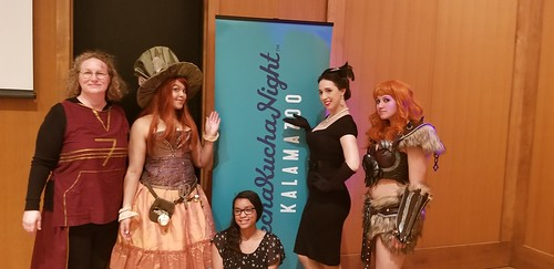 Kalamazoo cosplayers in attendance. From Lillie Cosplays: Sharing Cosplay Culture at PechaKucha Kalamazoo