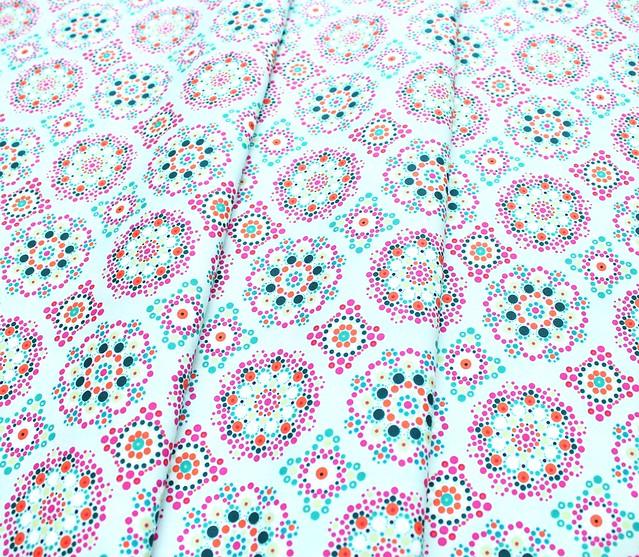 Art Gallery Fabrics Loved to Pieces Mandala Drops Iris
