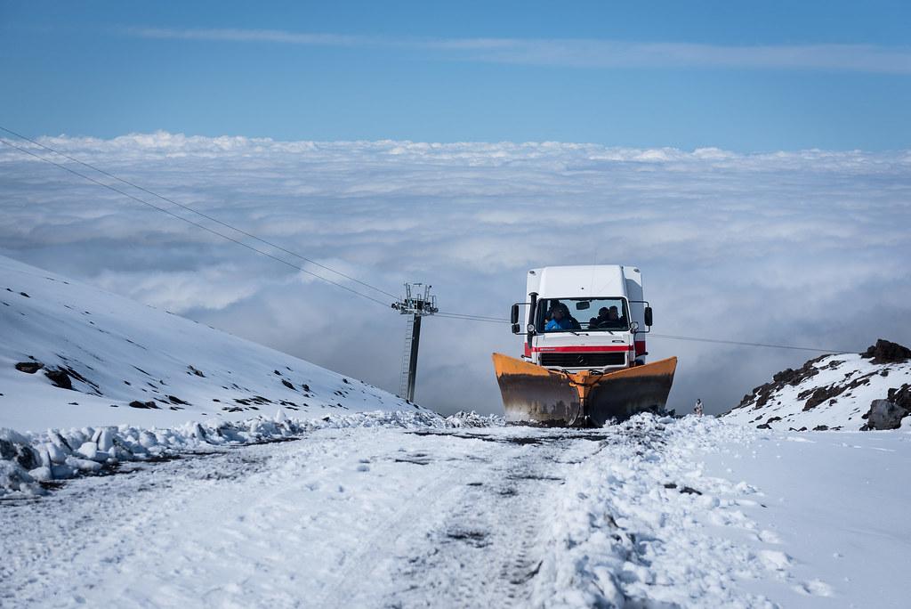 L'Etna sous la neige