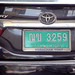 Thailand number plate