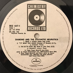 DIAMOND AND THE PSYCHOTIC NEUROTICS:WHAT U HEARD(LABEL SIDE-A)