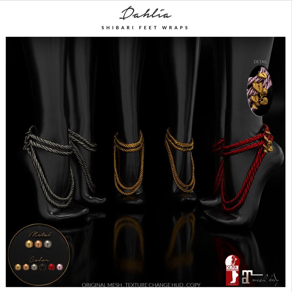 Dahlia - Shibari - Feet Wraps - TeleportHub.com Live!