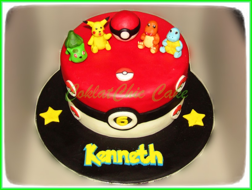 Cake Pokemon KENNETH 18 cm