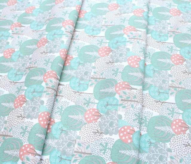3 Wishes Fabric Little Forest 12952-MULTI