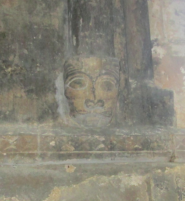 Carved Head, St Athernase Church, Leuchars, Fife