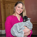 """Rep. Stephanie Cummings holds """" Photini"""", a Nigerian dwarf goat during New Milford Day at the Capitol."""
