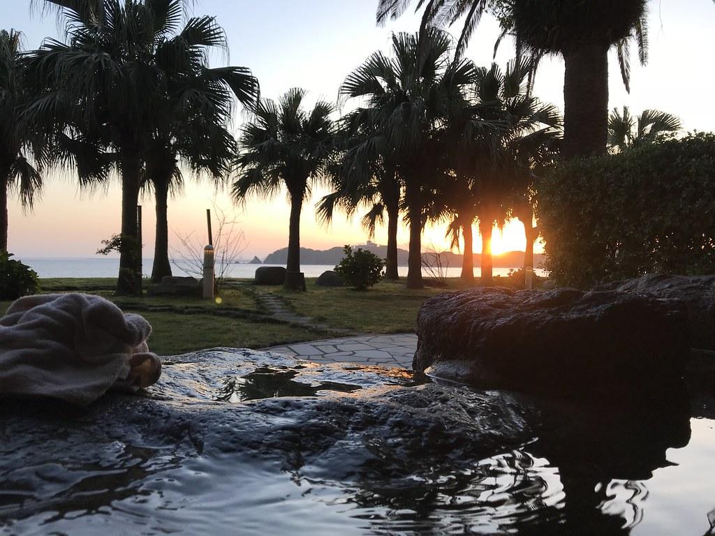 タラサの湯、海水露天風呂からの景色
