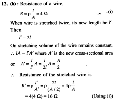 NEET AIPMT Physics Chapter Wise Solutions - Current Electricity explanation 12