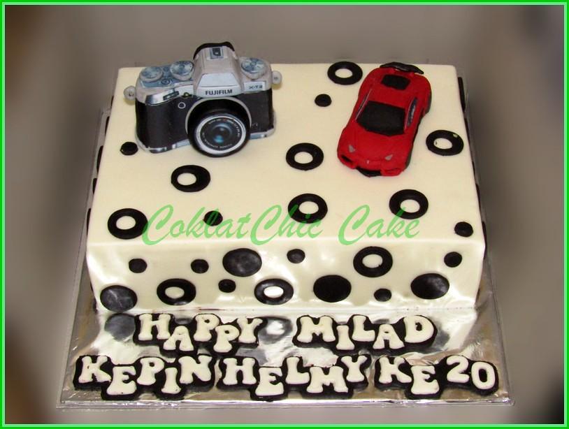 Cake Camera FUJI XT-2 & lamborghini KEPIN 15x22 cm