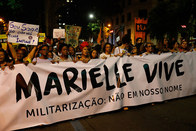 """Marielle's execution will not be used to aggravate the brutal policies that ultimately killed her"" - Créditos: Fernando Frazão/Agência Brasil"