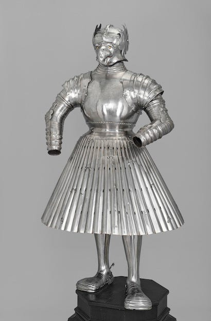 Folder skirt armour around 1526