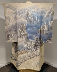 Itchiku Kubota. Symphony of Light: Seasons (Spring Air Approaching Snowy Mountains (1991) kimono