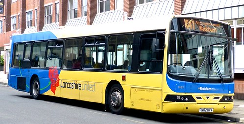 PN02 HVV 'Lancashire United' No. 1097, 'The Blackburn Bus Company'. Volvo 10BLE / Wright Renown on 'Dennis Basford's railsroadsrunways.blogspot.co.uk'
