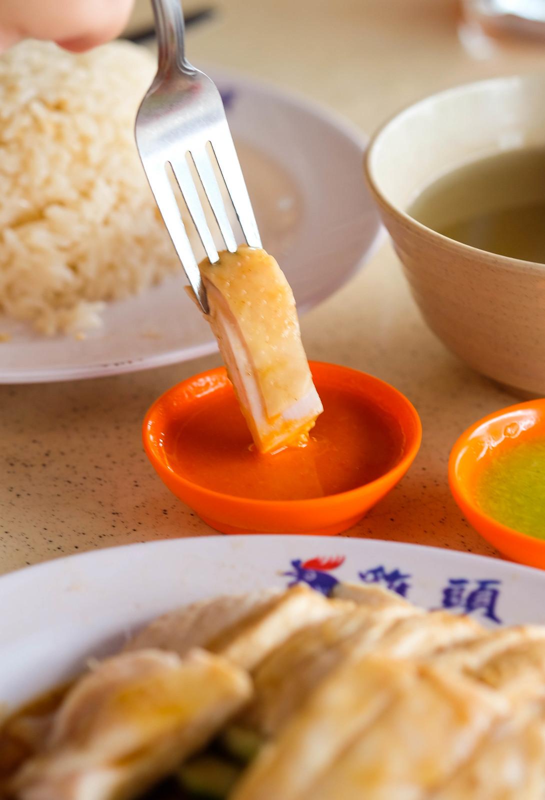 ji tou chicken rice Steamed chicken in chili