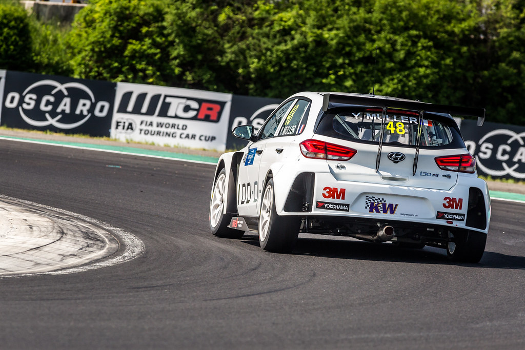 48 MULLER Yvan (FRA), YMR, Hyundai i30 N TCR, action during the 2018 FIA WTCR World Touring Car cup, Race of Hungary at hungaroring, Budapest from april 27 to 29 - Photo Thomas Fenetre / DPPI