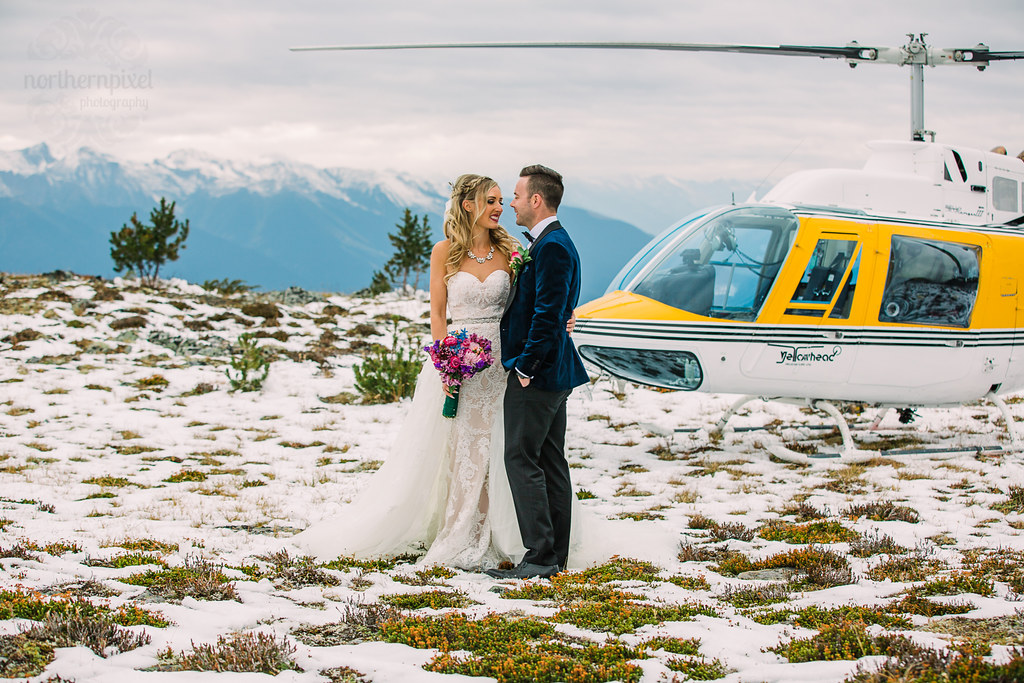 Helicopter Wedding Photography Valemount BC Heliwedding heli