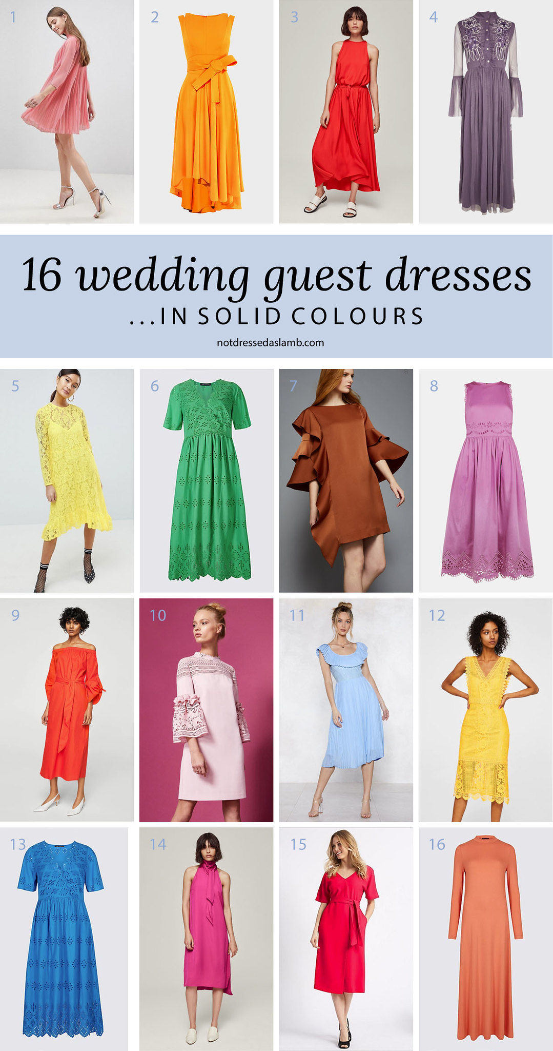 What to Wear to a Summer Wedding for All Shapes & Sizes: 16 Wedding Guest Dresses for Lovers of Colour - Not Dressed As Lamb