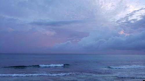 beach sunrise bahamas ocean sea clouds