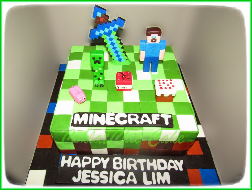 Cake Minecraft JESSICA LIM 20 cm