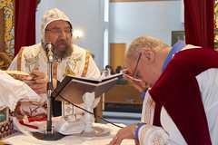 Bishop Mina's first Mass at ARSM