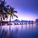 Tropical sunset by icemanphotos