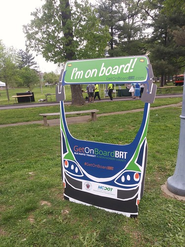 Bus Rapid Transit promotion device, Montgomery County, Maryland