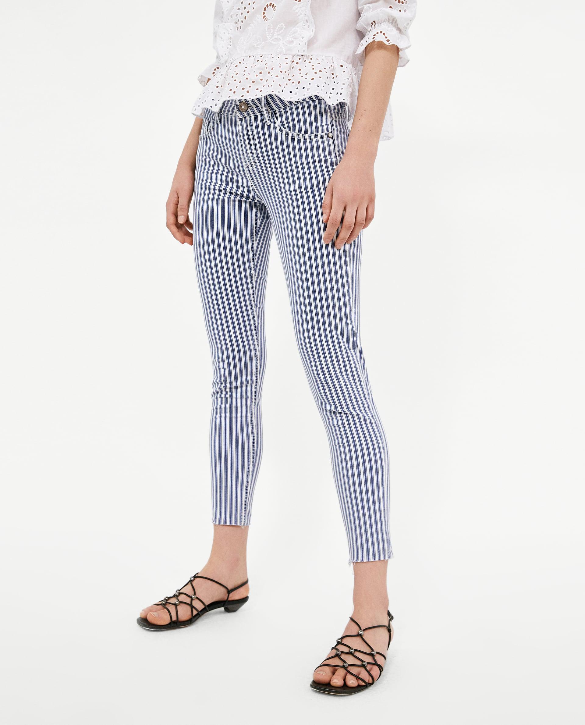 pantalones rayados zara