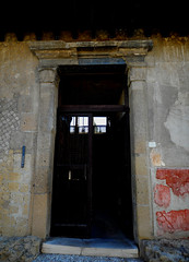 Portal of the Samnitic House (2nd-1st century BC) at Herculaneum, buried by Vesuvius' eruption on 79 AD