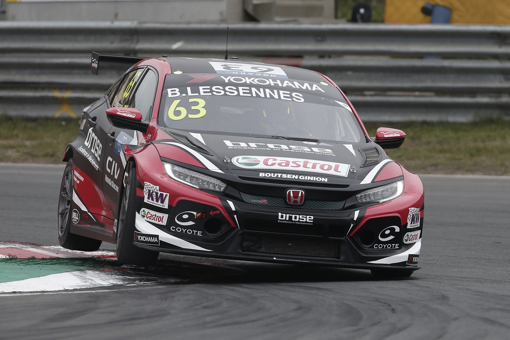 63 LESSENNES Benjamin, (bel), Honda Civic TCR team Boutsen Ginion Racing, action during the 2018 FIA WTCR World Touring Car cup of Zandvoort, Netherlands from May 19 to 21 - Photo Jean Michel Le Meur / DPPI