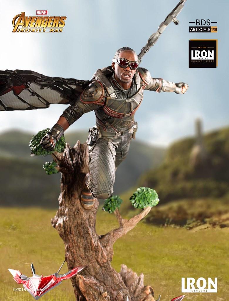 美國隊長最能信賴的好戰友!! Iron Studios Battle Diorama 系列《復仇者聯盟3:無限之戰》獵鷹 Falcon 1/10 比例決鬥場景雕像作品