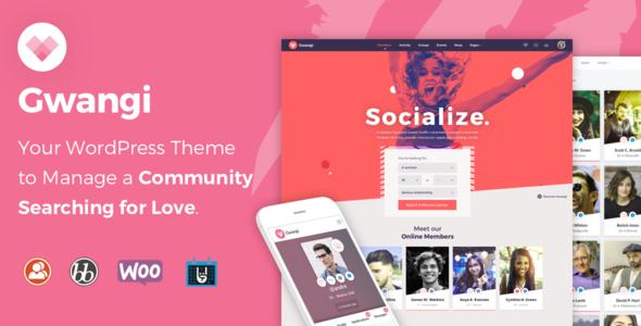 Gwangi v1.1.8 – Dating & Matchmaking Community Theme