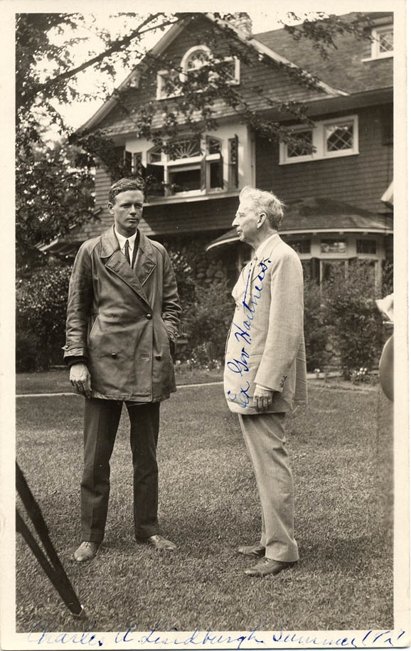 Lindbergh and James Hartness at Springfield, Vermont, on July 26, 1927.