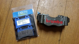 Brembo racing caliper + Endless racing brake pad