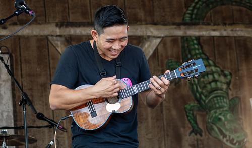 Jake Shimabukuro on Day 1 of Jazz Fest - 4.27.18. Photo by Charlie Steiner.